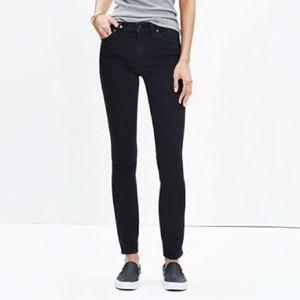 """Madewell 9"""" High-Rise Skinny Jeans ISKO Stay Black"""